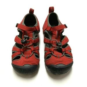 Keen Boy's Sandals Shoes Seacamp II CNX Racing Red